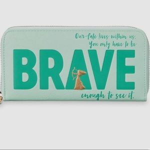 Disney Merida Brave mint green sea foam wallet